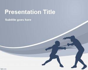 Plantilla PowerPoint de Esgrima PPT Template