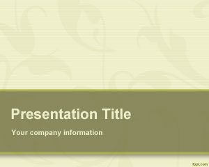 Plantilla PowerPoint Orgánica PPT Template