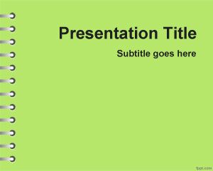 Plantilla PowerPoint Verde de Tareas escolares PPT Template