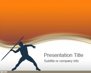 Olympic Javelin PowerPoint Template