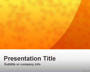 Plantilla PowerPoint de Negocios color Naranja PPT Template