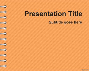 Orange School Homework PowerPoint Template