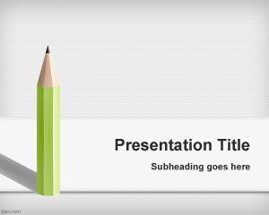 Fondo de PowerPoint con Lápiz PPT Template