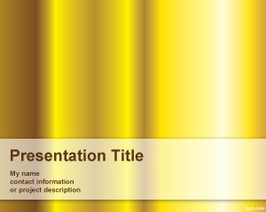 Plantilla PowerPoint color Oro