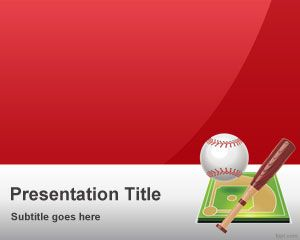 free red baseball powerpoint template free powerpoint templates. Black Bedroom Furniture Sets. Home Design Ideas