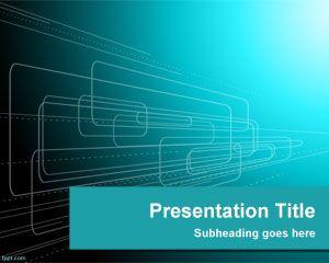 Plantilla PowerPoint con fondo de Tecnología
