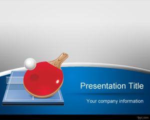 Plantilla PowerPoint de Tenis de Mesa PPT Template