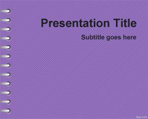 Plantilla PowerPoint Violeta de Tareas escolares