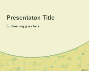 Plantilla PowerPoint con Flores Amarillas
