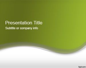Plantilla PowerPoint 2012 de Color Verde Abstracto PPT Template
