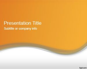 Plantilla PowerPoint 2012 de Color Naranja Abstracto PPT Template