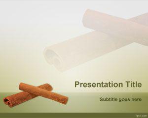 Plantilla PowerPoint de Canela PPT Template