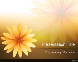 Plantilla PowerPoint de Flores Margaritas PPT Template