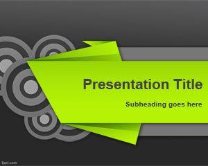 Plantilla PowerPoint de Kirigami