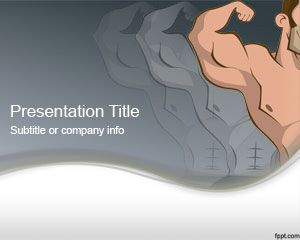 Plantilla PowerPoint de Músculos