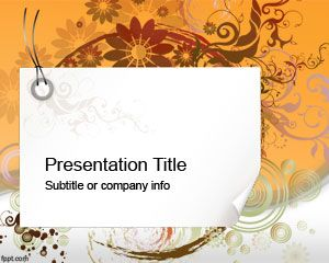 Swirl PowerPoint Template