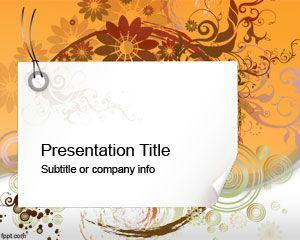 Plantilla PowerPoint Moderna con remolinos y flores