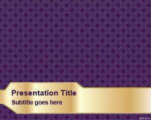 Plantilla PowerPoint con Textura Violeta PPT Template
