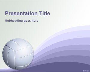 Plantilla PowerPoint de Voleibol PPT Template