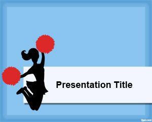 Cheerleader powerpoint template for Cheerleader template