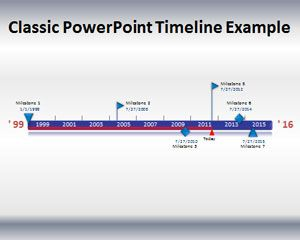 Classic powerpoint timeline template for Timeline template for powerpoint 2010