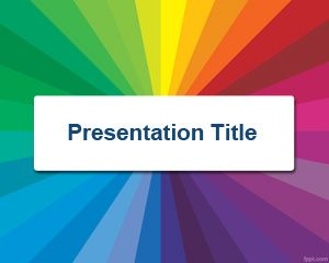Free Color Radial PowerPoint Template