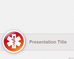 Free Health care PPT template for PowerPoint presentations with medical logo and gray background