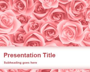 Free roses for PowerPoint presentations