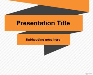 Simple Origami PowerPoint Template