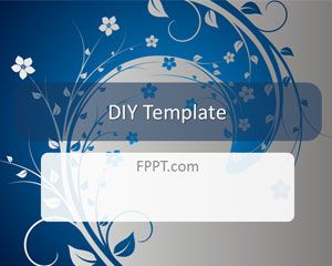 Simple swirl background for PowerPoint and DYI template