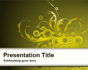 Yellow Curly Sprout PowerPoint Template
