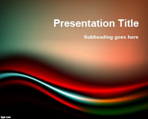 black and powerpoint template