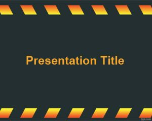 Dark Under Construction PowerPoint Template