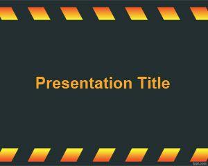 Dark Under Construction Powerpoint Template