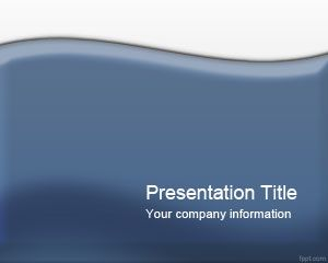 Glossy Blue PowerPoint Template