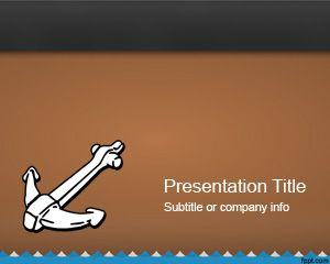 Maritime Sail PowerPoint with brown background and anchor
