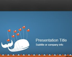 Animals free powerpoint templates presentation template with a whale and lot of small twitter bird and a wave effect in the bottom of the slide design this free ppt template slide toneelgroepblik Gallery