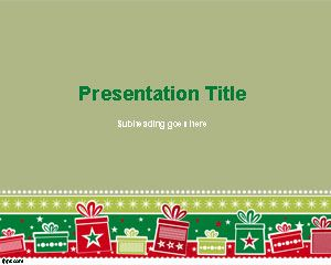 Free Christmas Background PowerPoint Template