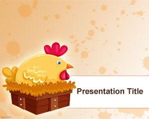Hen PowerPoint template