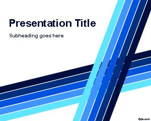Professional PowerPoint Template with Blue Lines Background Design