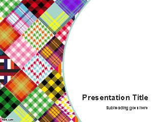 Colored Fabrics PowerPoint Template PPT Template
