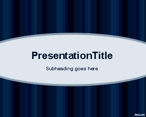 oval blue powerpoint