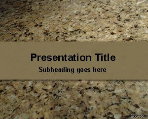 Beige free powerpoint templates you can download this free granite stone template for powerpoint to be used in presentations on construction as well as other presentations and powerpoint toneelgroepblik Images