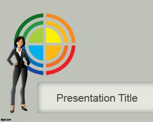 Business Lady PowerPoint Template