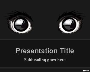 the post dark animal eyes powerpoint template appeared first on free powerpoint templates