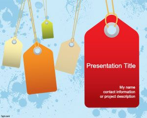 Objects free powerpoint templates you can download free shop powerpoint templates with some nice sales labels and sales tag design in the slide template and sky blue toneelgroepblik Choice Image