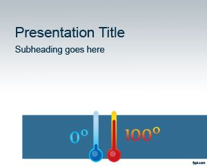 Example of chemistry thermometer used in Microsoft PowerPoint presentations as a free template