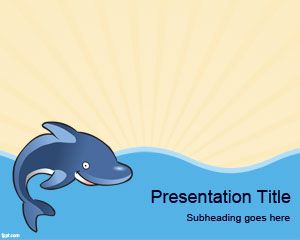 dolphin powerpoint template free