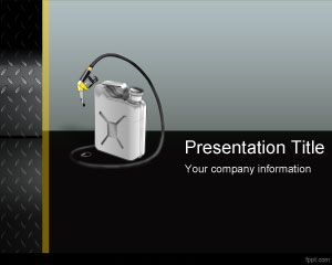 Free Gas Can PowerPoint Template