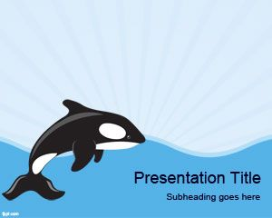 Sea Whale PowerPoint Template